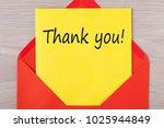 thank you  written on letter in ... | Shutterstock . vector #1025944849