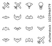 flat vector icon set   plane... | Shutterstock .eps vector #1025946979