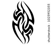 tattoo tribal vector design.... | Shutterstock .eps vector #1025952355