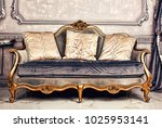 royal interior. living room... | Shutterstock . vector #1025953141