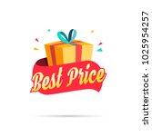 best price shopping gift box | Shutterstock .eps vector #1025954257