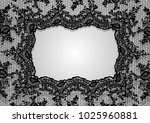 vector black lace frame template | Shutterstock .eps vector #1025960881
