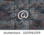 email concept illustrated by... | Shutterstock . vector #1025961559