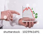 stock market crash concept... | Shutterstock . vector #1025961691