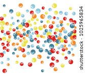 vector confetti background... | Shutterstock .eps vector #1025965834