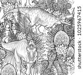 graphic tyrannosaurus rex... | Shutterstock .eps vector #1025967415