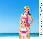 blue sea  white sand paradise.... | Shutterstock . vector #1025968195