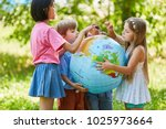 international children group... | Shutterstock . vector #1025973664