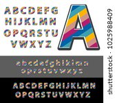 stylized colorful font and...