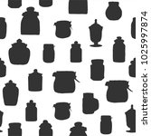 classic jars silhouette ...   Shutterstock .eps vector #1025997874
