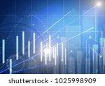 stock market chart. business... | Shutterstock . vector #1025998909