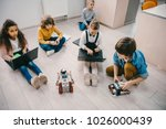 high angle view of kids... | Shutterstock . vector #1026000439