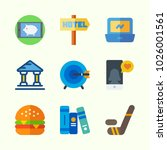 icons about lifestyle with book ... | Shutterstock .eps vector #1026001561