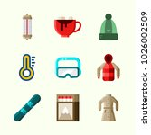 icons about winter with winter...   Shutterstock .eps vector #1026002509