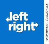 left and right typography with... | Shutterstock .eps vector #1026007165