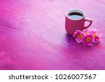 Cup Of Spring Coffee With...