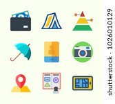 icons about travel with tent ... | Shutterstock .eps vector #1026010129