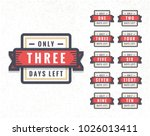 number of days left to go... | Shutterstock .eps vector #1026013411