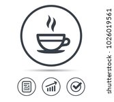 tea cup icon. hot coffee drink... | Shutterstock .eps vector #1026019561