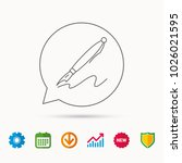 pen icon. writing tool sign.... | Shutterstock .eps vector #1026021595