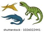 dinosaurs tyrannosaurus rex ... | Shutterstock .eps vector #1026022441