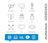 love heart  gift box and...   Shutterstock .eps vector #1026022621