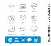 love heart  gift box and...   Shutterstock .eps vector #1026022639