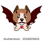 staffordshire terrier dog. a... | Shutterstock .eps vector #1026024631
