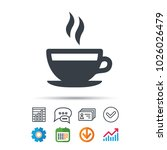 coffee cup icon. hot tea drink... | Shutterstock .eps vector #1026026479