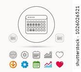 calendar icon. vacations... | Shutterstock .eps vector #1026026521