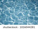 texture of water in swimming... | Shutterstock . vector #1026044281