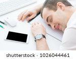 young  attractive male fell... | Shutterstock . vector #1026044461