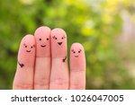fingers art of family. concept... | Shutterstock . vector #1026047005