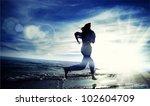 beautiful young sport woman...   Shutterstock . vector #102604709