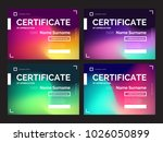 set of dark certificate... | Shutterstock .eps vector #1026050899
