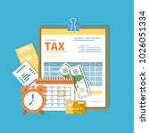 tax payment. government  state... | Shutterstock .eps vector #1026051334