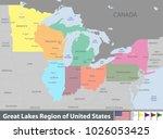 vector set of great lakes...   Shutterstock .eps vector #1026053425
