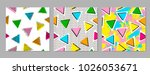 colorful geometric seamless... | Shutterstock .eps vector #1026053671