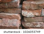 old used bricks | Shutterstock . vector #1026053749