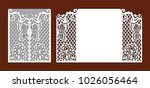 wedding invitation with lace... | Shutterstock .eps vector #1026056464