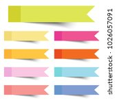 collection of colorful vector... | Shutterstock .eps vector #1026057091