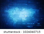2d digital abstract business... | Shutterstock . vector #1026060715