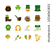 saint patrick s day   flat icon ... | Shutterstock .eps vector #1026061831