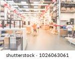 abstract blur customer shopping ...   Shutterstock . vector #1026063061