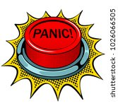 panic red button pop art retro... | Shutterstock .eps vector #1026066505
