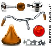 vector bicycle spares  isolated ... | Shutterstock .eps vector #1026067357