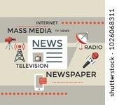 digital mass media objects... | Shutterstock .eps vector #1026068311