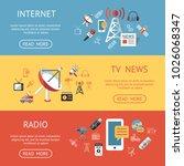 digital mass media objects... | Shutterstock .eps vector #1026068347