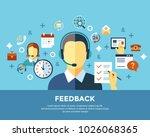 digital call center and... | Shutterstock .eps vector #1026068365