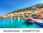 kalymnos island  greece   june... | Shutterstock . vector #1026072724